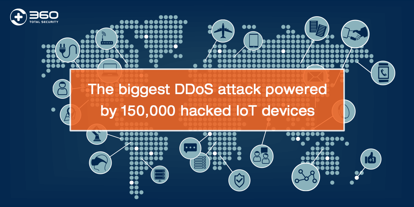The biggest DDoS attack powered by 150,000 hacked IoT devices