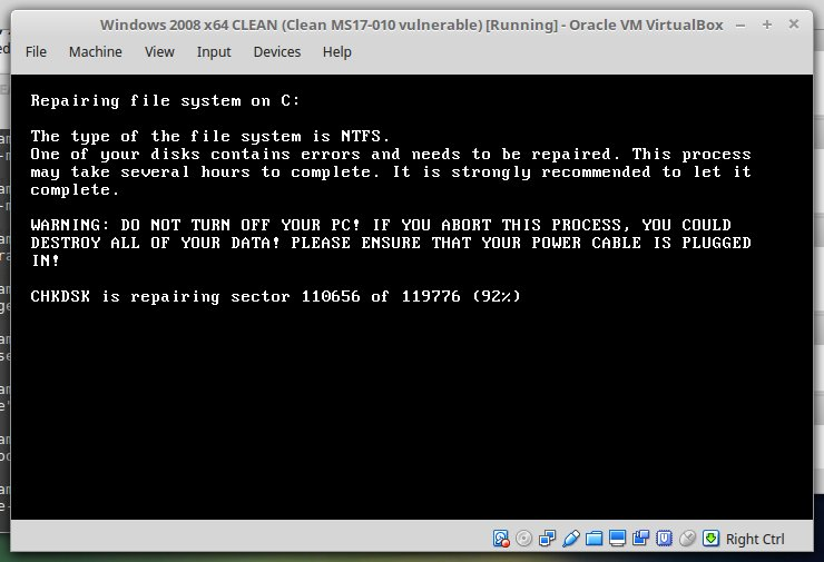 Fake system message from Petya ransomware