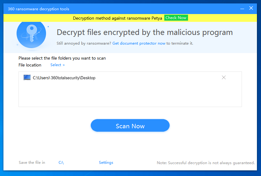 10. Scan the folder where your files are encrypted.